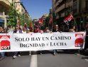 1º de mayo en Granada: «Sólo hay un camino, Dignidad y Lucha»