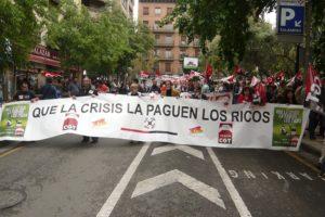 1º de mayo en Zaragoza: Que la crisis la paguen los ricos