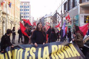 1º de mayo en Soria: Protesta juvenil «El Capitalismo es la ruina»