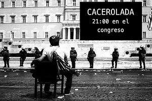 8J en Madrid: Cacerolada al atardecer