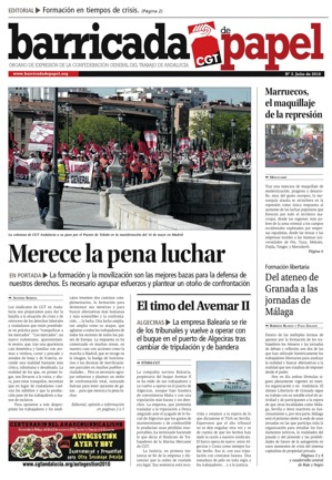 Barricada de Papel 2 – julio 2010