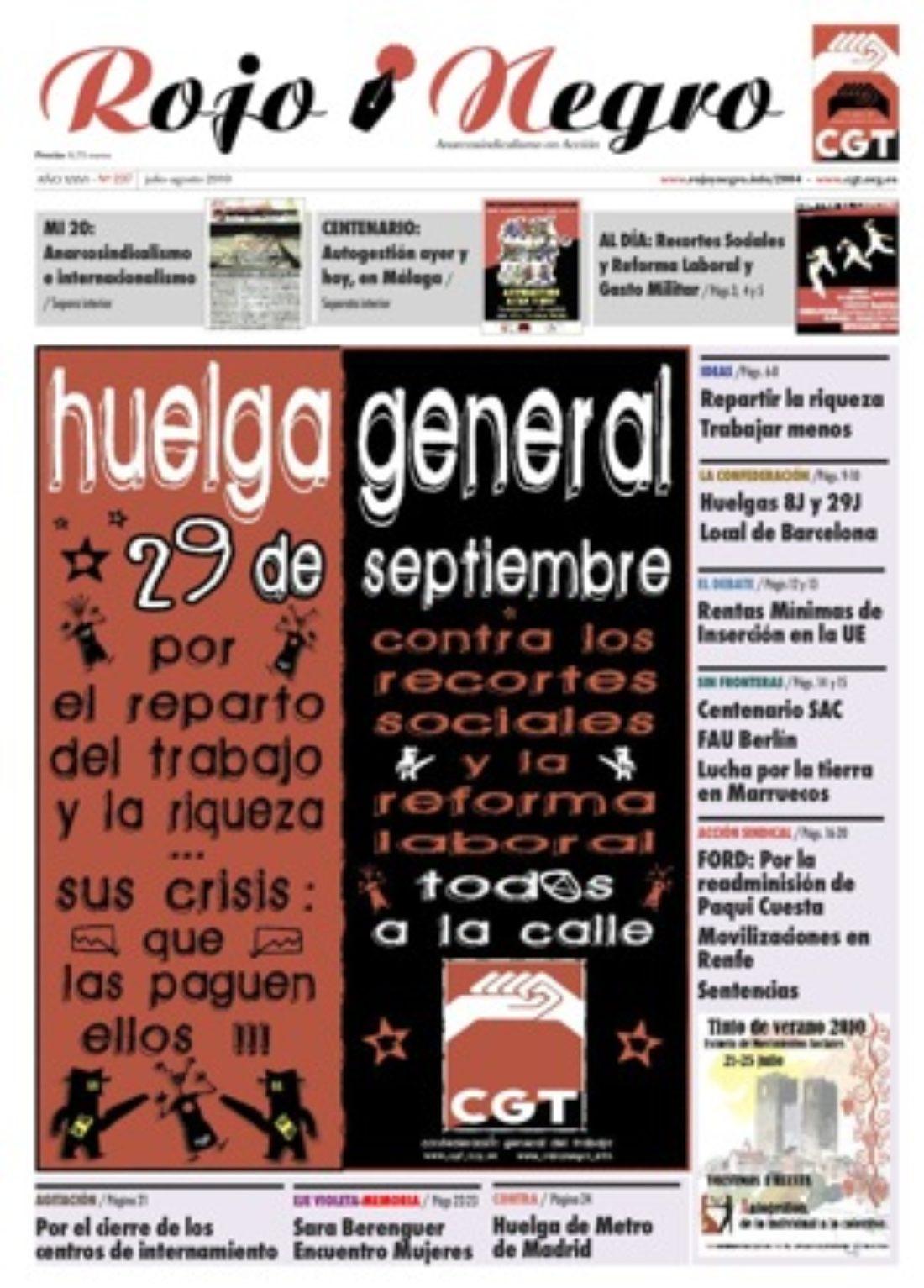 Rojo y Negro 237 – julio y agosto 2010