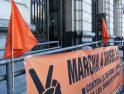 Zaragoza: fiesta de despedida de la Marcha a Bruselas por los derechos sociales