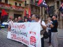 Concentración en Pamplona-Iruñea: Llamamiento a la Huelga General