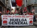 Comenzaron los pasacalles por el centro de Málaga, llamando a la Huelga General