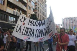 Manifestación alternativa en Gijón el 29S
