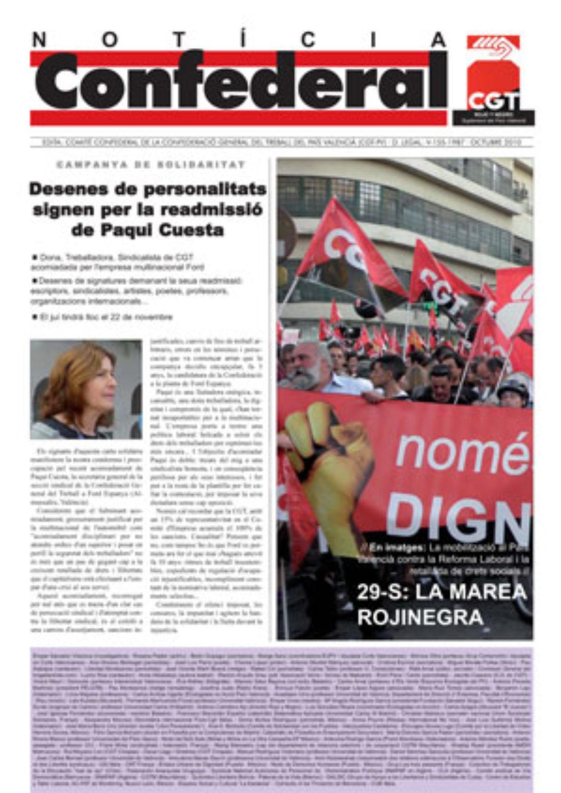 Noticia Confederal – Octubre 2010