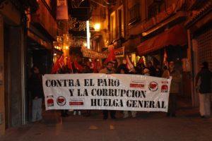 Gran participación en la manifestación por la dignidad del trabajo y contra la reforma de las pensiones en Segovia