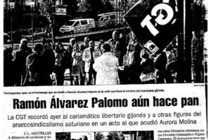 CGT homenajeó en Gijón al libertario Ramón Álvarez Palomo (El Coto)