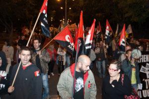 Mil manifestantes en Tenerife contra el paro y la precariedad (20 de enero)