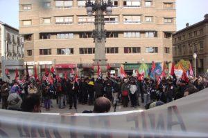 Jornada matutina de Huelga General del 27 de enero en Iruñea