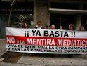 CGT realiza varias concentraciones de protesta ante la agencia EFE  por la agresión mediática al EZLN