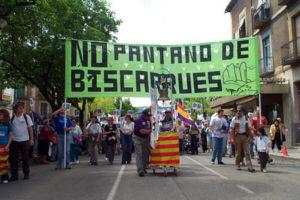 Movilizaciones contra el proyecto de embalse de Biscarrués