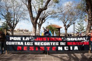 Concentración contra los recortes sociales en La Orotava, Tenerife (5 febrero)