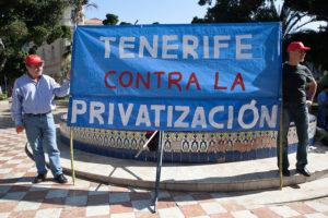 Manifestación contra la privatización de AENA en Tenerife (26 feb)