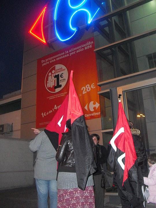 Actos de protesta en Carrefour Elche y Carrefour Alicante (11 feb) por represión sindical