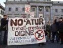 Concentración contra el paro en la Plaza de Sant Jaume de Barcelona