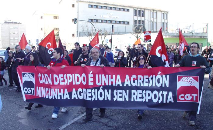 Manifestación contra la represión sindical en Citroën (12 feb)