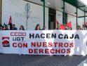 Concentración en Renfe de Valladolid ante la visita de Toxo (24 feb)