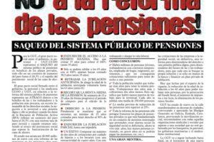 Especial Rojo y Negro «No a la Reforma de las Pensiones»