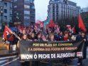 Manifestación en Villagarcía por los puestos de trabajo de Alfageme