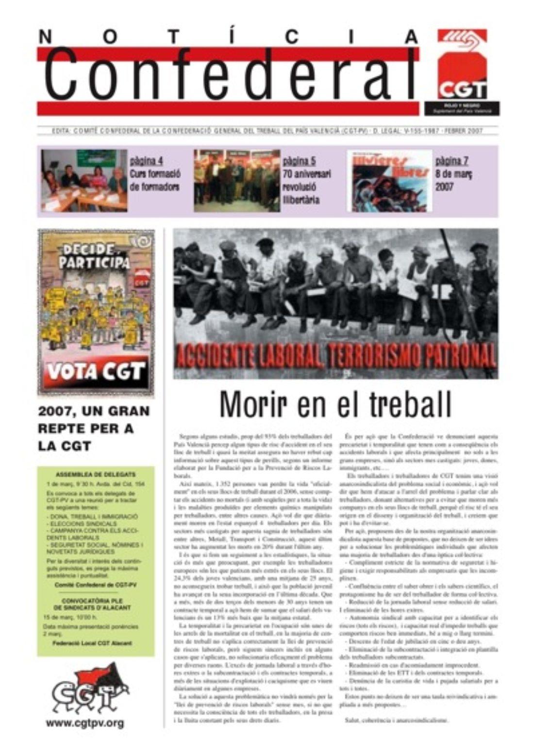 Noticia Confederal – febrero 2007