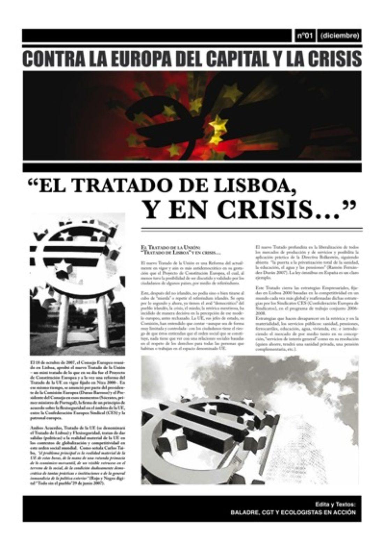 Contra la Europa del Capital I.- El Tratado de Lisboa