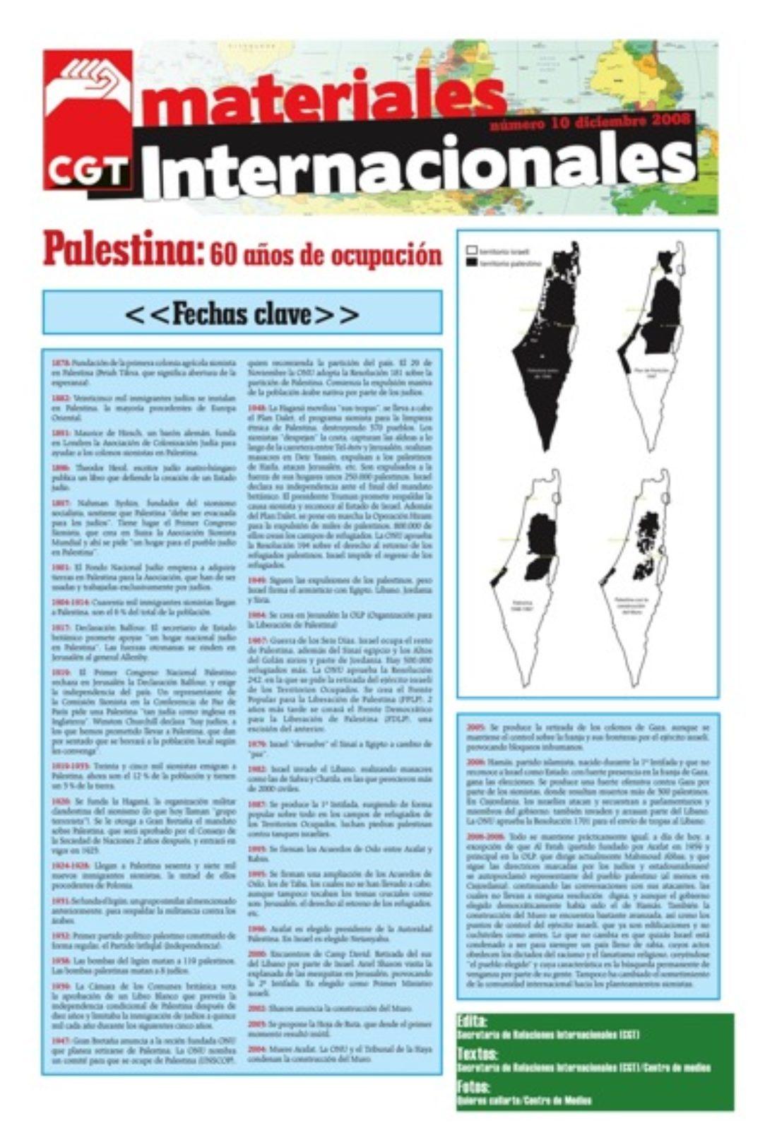 Materiales Internacionales 10: Palestina, 60 años de ocupación