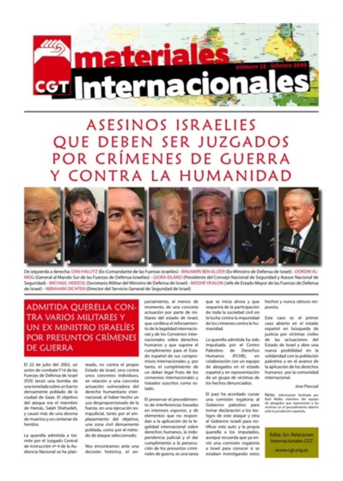 Materiales Internacionales 12: Asesinos israelíes