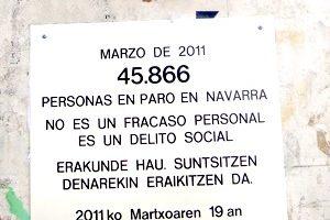 Acción contra el paro en Pamplona (19 marzo)