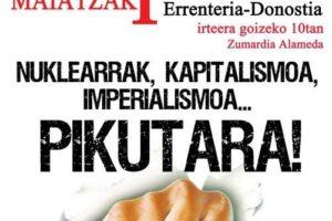 Marcha Errenteria-Donostia:  1º de Mayo Anticapitalista, Antiimperialista y Antinuclear