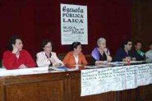 Concentración 7 abril en Segovia. Plataforma escuela pública, laica y gratuita
