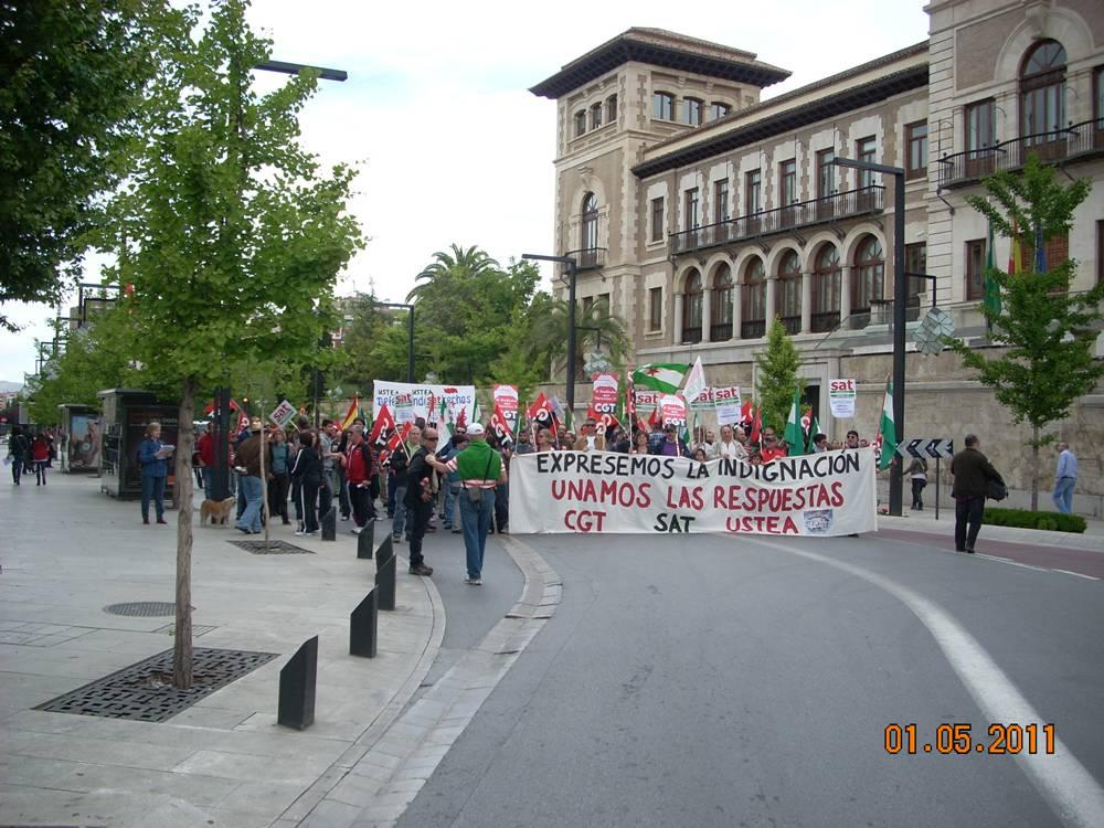 Foto-reportaje Manifestación 1 de mayo en Granada