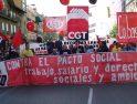 Varios miles de personas se manifiestan el 1º de mayo en Madrid contra el pacto social