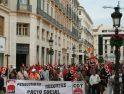 Foto-reportaje de la Mani de CGT el 1º de mayo en Málaga