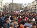 Nuevamente miles de personas ocupan la Puerta del Sol de Madrid