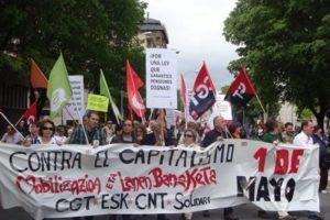 Crónica del 1 de mayo en Iruñea