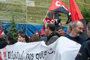 Concentración en Valladolid ante la Patronal