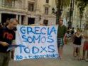 Video: Concentración en apoyo del pueblo de Grecia, Valencia 15M, 29-6-11