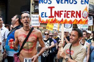 Fotos: Crónica Manifestación laica «No con mi dinero» – Madrid 17 agosto