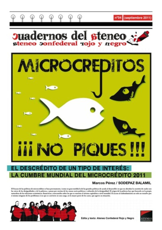 Cuadernos del Ateneo 4: Microcréditos ¡No Piques!