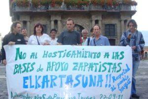 Pamplona: Solidaridad con el zapatismo y con el pueblo Yaqui