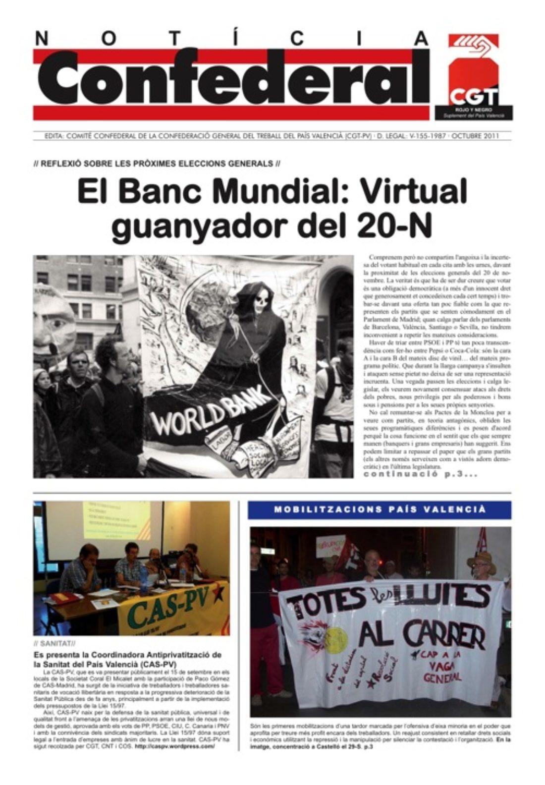 Noticia Confederal Octubre 2011