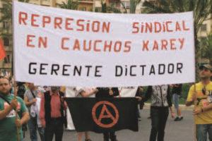 Alicante: Tres jueces condenan a la empresa Cauchos Karey SA por persecución sindical