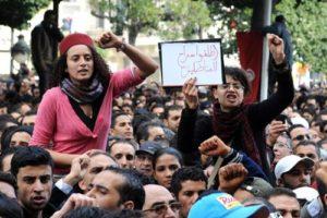Centenares de mujeres se manifiestan en Túnez en defensa de sus derechos