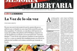 Memoria Libertaria – diciembre 2011: El año de la desmemoria