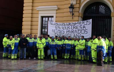 Chiclana: Los trabajadores de «Vertresa» exigen la reincoporación de 11 despedidos