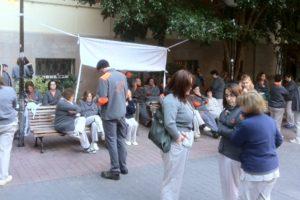 Nuevas protestas por impago de nóminas en limpieza del Clínico de Valencia