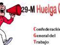 Concentraciones de CGT Alacant por la huelga general