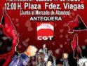 Manifestacion en Antequera contra las sucesivas reformas laborales